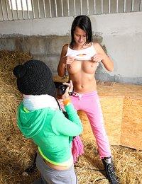 Farmgirl Masturbating